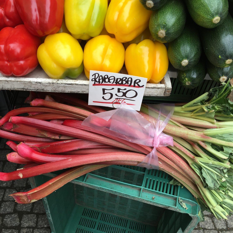 ヨーロッパでよく見かける野菜 ルバーブ