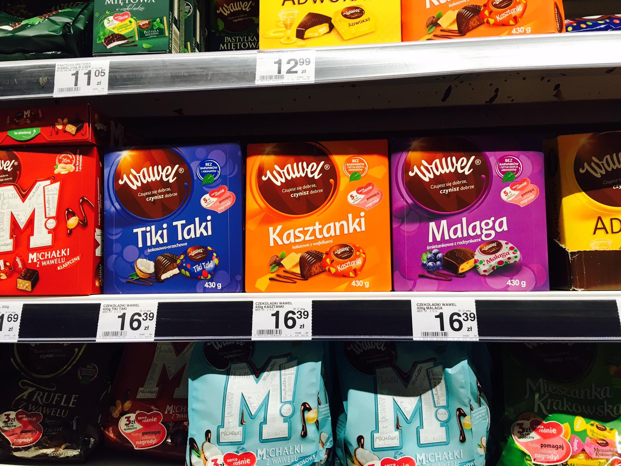 ポーランドのスーパーマーケットで買えるおすすめチョコレート