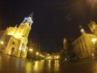 ポーランドトルンの旧市街夜景