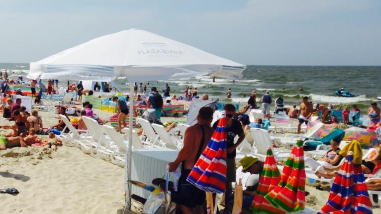 ポーランドの夏のビーチ