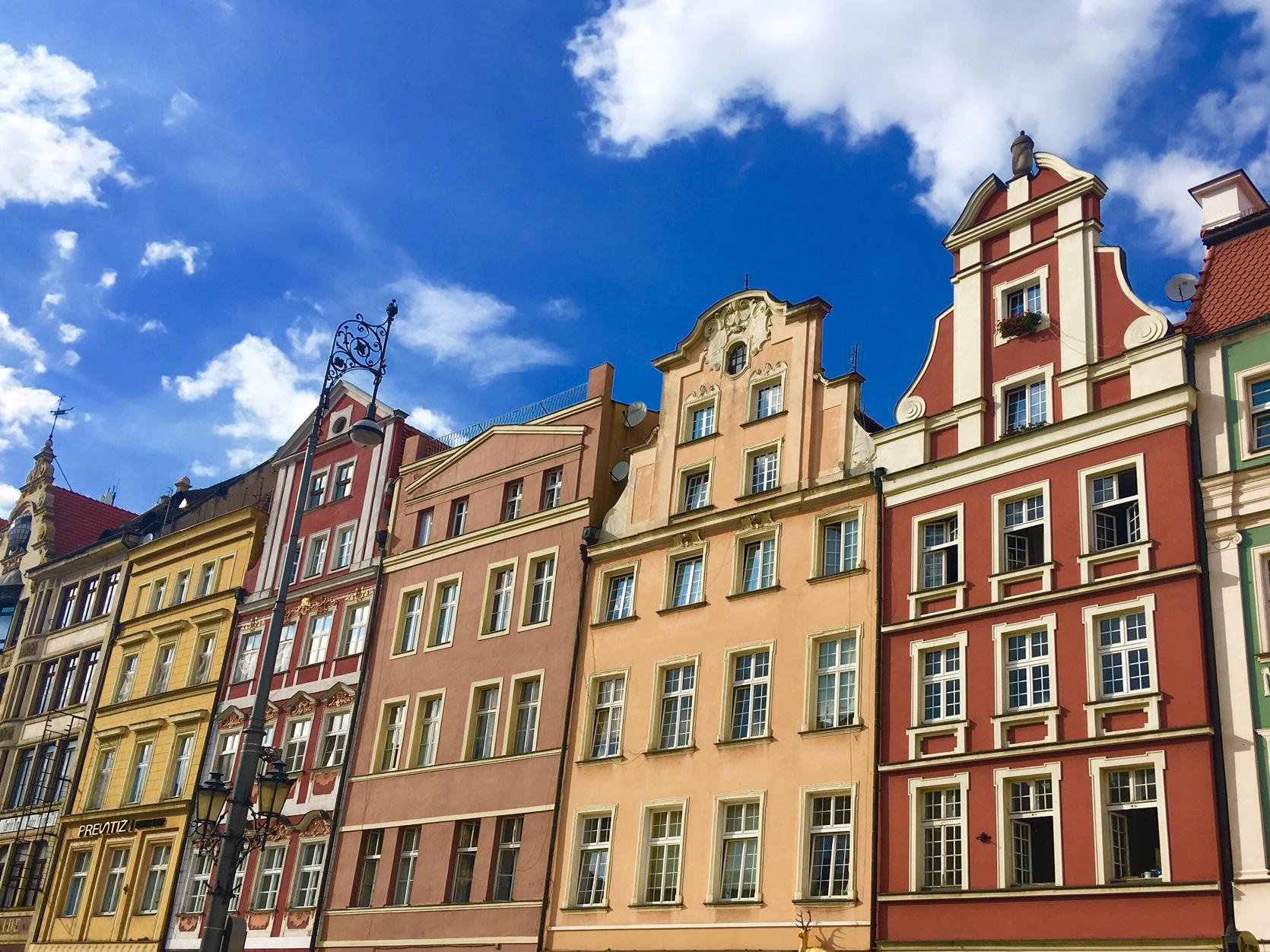 ポーランドの美しい街並み ヴロツワフ旧市街
