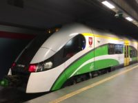 ワルシャワ空港から市内まで 電車