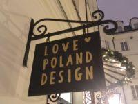 """ワルシャワおすすめお土産 """"LOVE POLAND DESIGN""""の看板"""