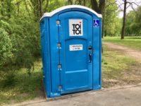 ポーランドの仮設トイレ