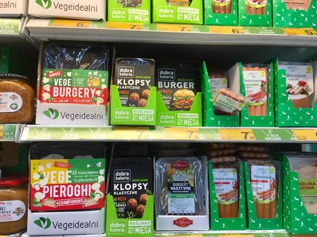 ポーランド スーパーマーケットのベジタリアン食品
